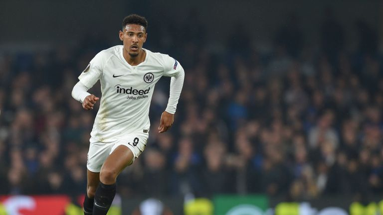 Sebastian Haller in action for Eintracht Frankfurt