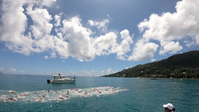 A men's and women's elite 10K race was held off Mahe island in the Seychelles (copyright: Colin Hill)