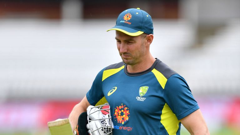 Shaun Marsh suffered a broken wrist during an Australia net session
