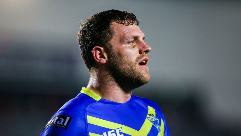 Halifax head coach Simon Grix in his playing days with Warrington