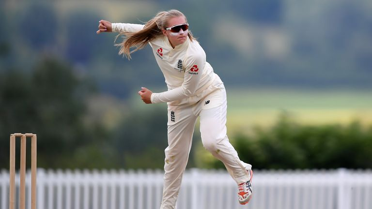 Sophie Ecclestone helped England to victory in a warm-up game against Australia A