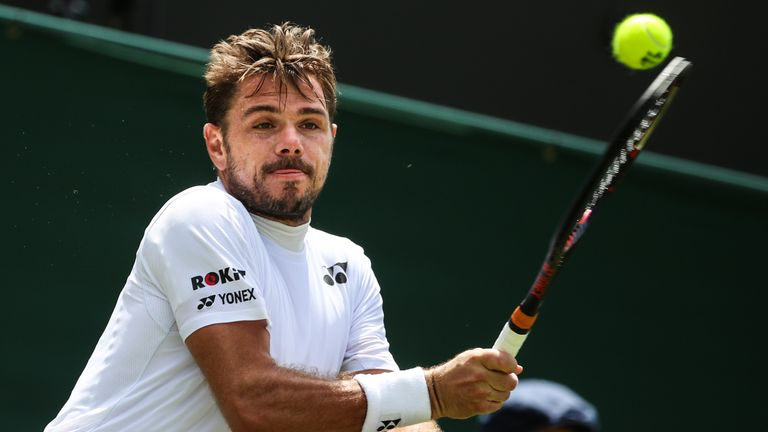 Wawrinka hasn't reached further than the second round at Wimbledon since 2015