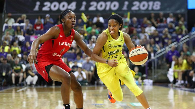 Seattle Storm Las Vegas Aces in the WNBA