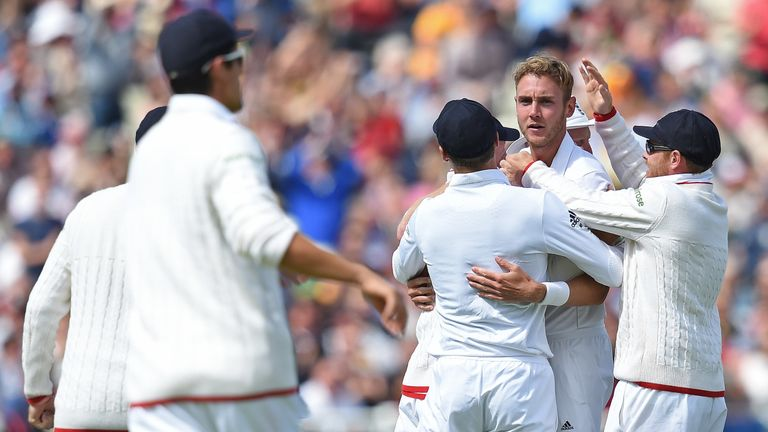 Stuart Broad helped England to victory over Australia at Edgbaston in 2015