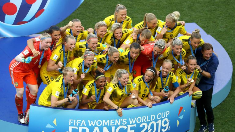 Sweden clinched bronze at the World Cup for the third time