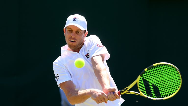 Sam Querrey's best run at the Championships saw him reach the last four in 2017