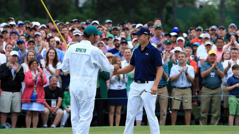 Spieth equalled the tournament record to claim his maiden major at the Masters