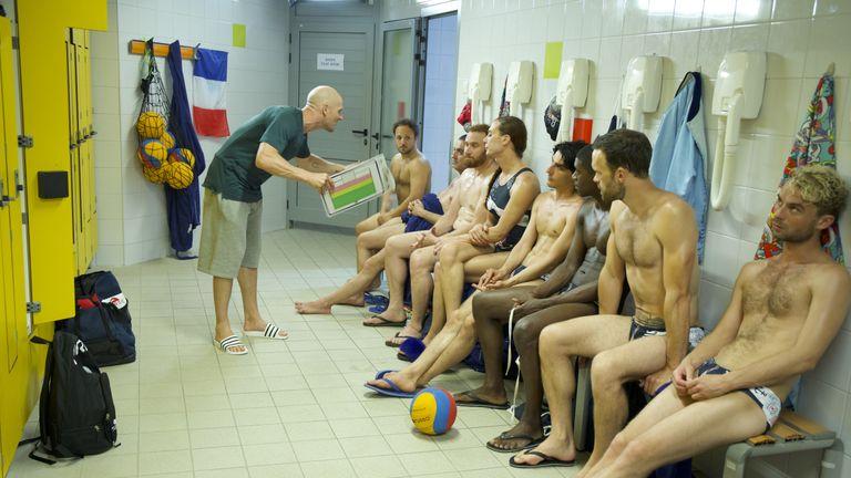 Swimming champion Matthias (Nicolas Gob, left) faces a tough task to motivate the Shrimps