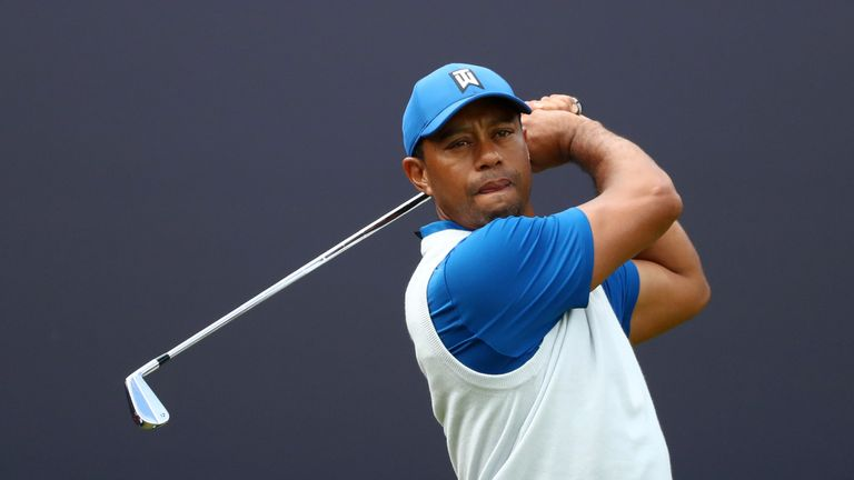 Tiger Woods during the opening day at The Open