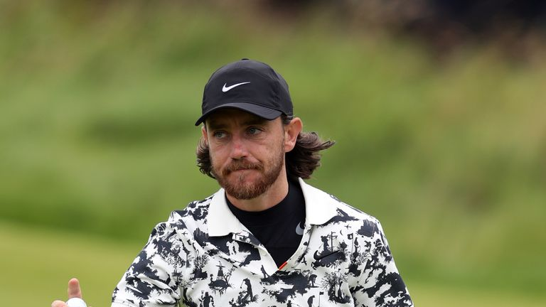 Fleetwood's chances effectively ended with a double-bogey at 14