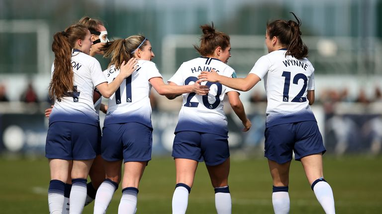 Tottenham were promoted to the Women's Super League after finishing second in the Championship last season