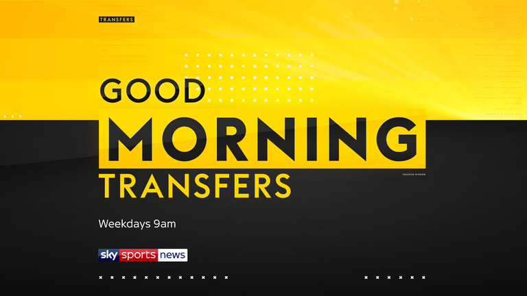 The latest transfer news brought to you by Sky Sports News with three new transfer shows including 'Good Morning Transfers' which is live on weekdays at 9am.