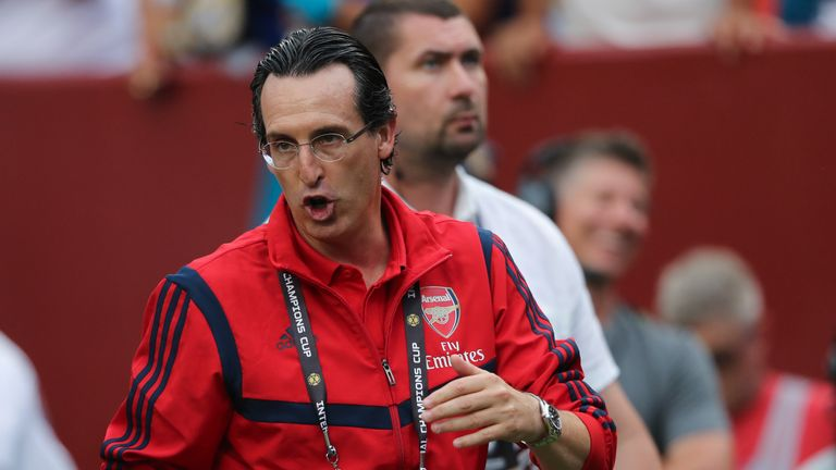 Unai Emery was at times visibly frustrated by Arsenal's second-half performance