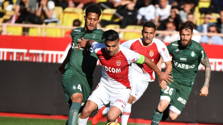 William Saliba in action for Saint-Etienne