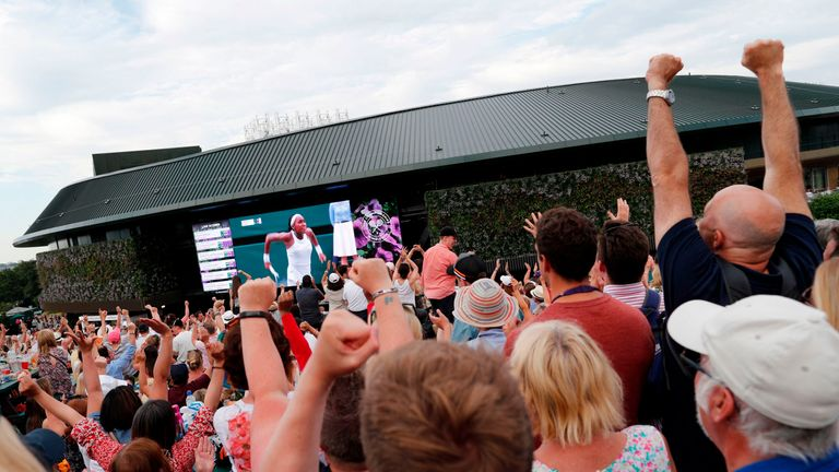 Henman Hill was packed out for all of Goff's matches