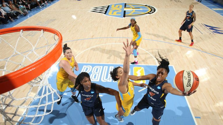 Indiana Fever against Chicago Sky in the WNBA