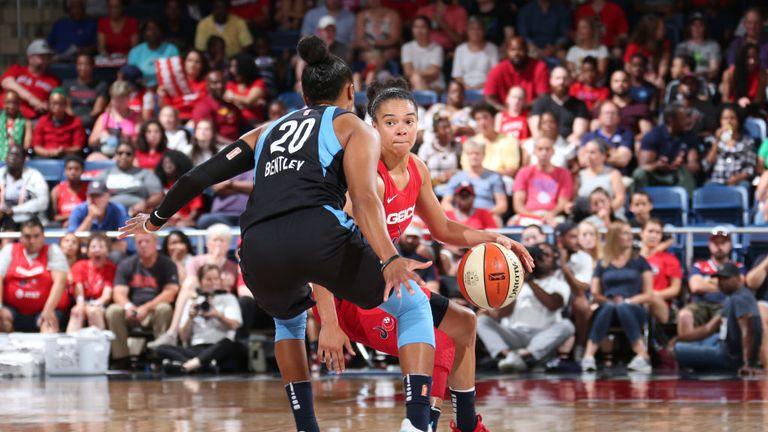 Washington Mystics against Atlanta Dream in the WNBA