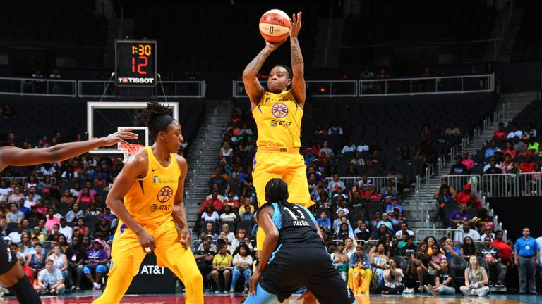 sparks v dream in the wnba