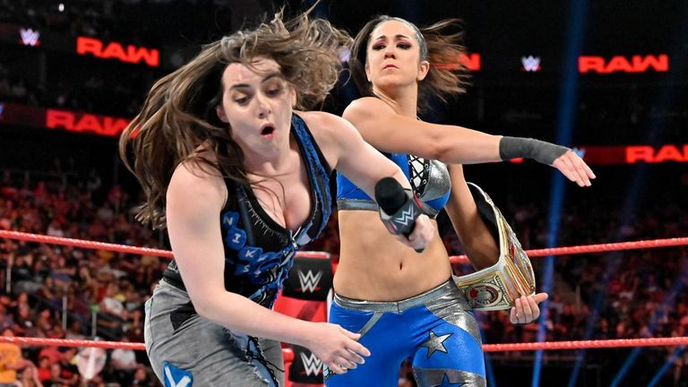 There had been glimpses of a harder edge to Bayley in her recent program with Alexa Bliss and Nikki Cross