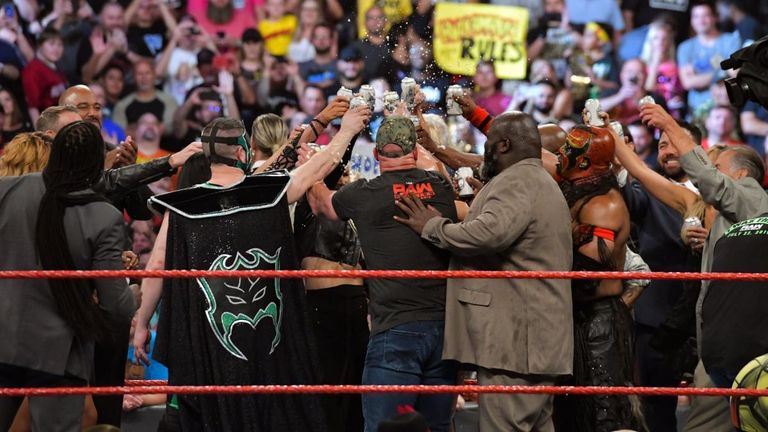 Stone Cold toasts to Monday Night Raw