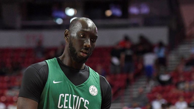 Tacko Fall in action for the Boston Celtics in Summer League