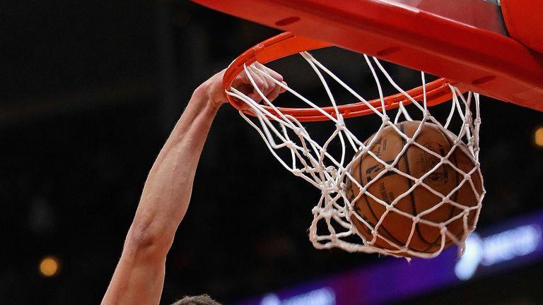 Chicago Bulls guard Zach LaVine rams home a dunk