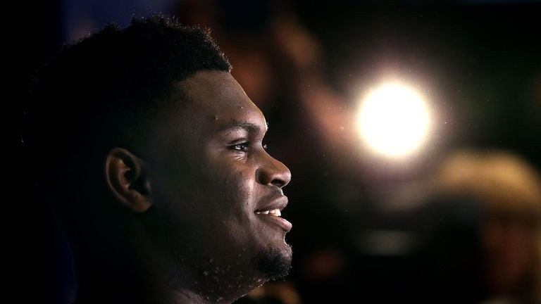 Zion Wiliamson meets the press at the NBA Draft