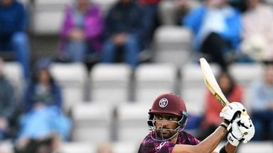 Babar Azam passed 4,000 T20 career runs in posting a half-century for Somerset
