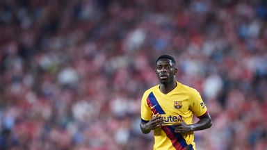 Ousmane Dembele is in his third season at Barcelona
