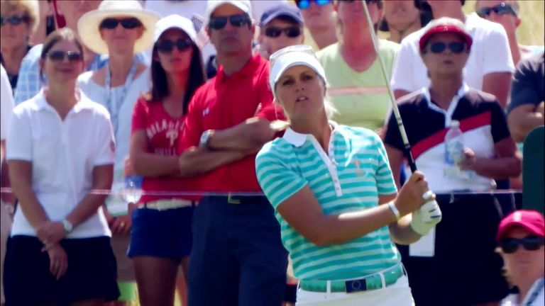 Anna Nordqvist fired the Solheim Cup's only hole in one in 2013