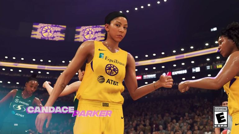 Los Angeles Sparks star Candace Parker, as portrayed in NBA 2K20 - credit 2K