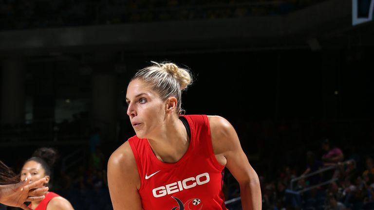 Elena Delle Donne in action for the Washington Mystics