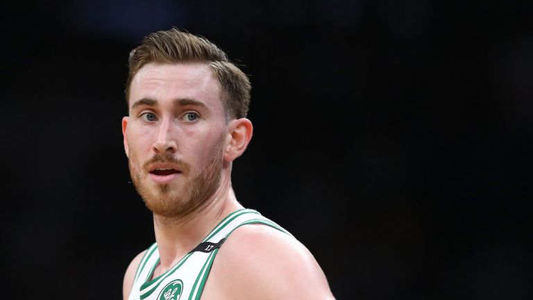 Gordon Hayward in action for the Boston Celtics during the 2018-19 season