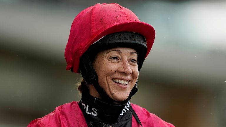 Hayley Turner is all smiles after her Ascot double