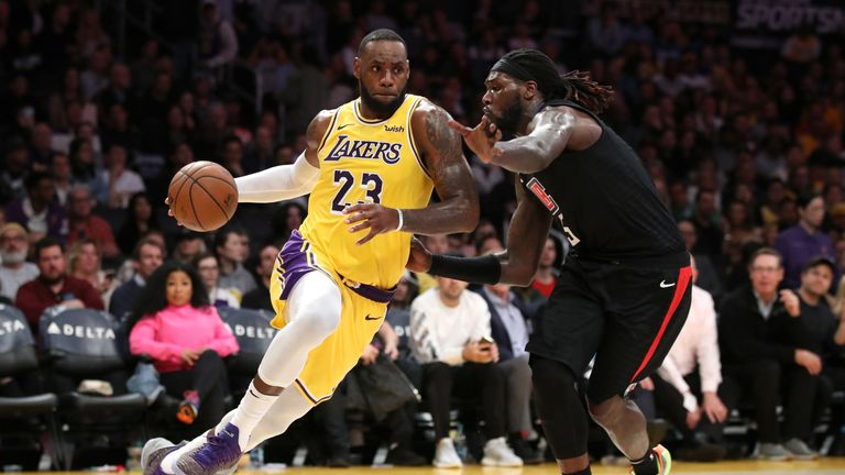 LeBron James takes on Montrezl Harrell in a Lakers-Clippers clash