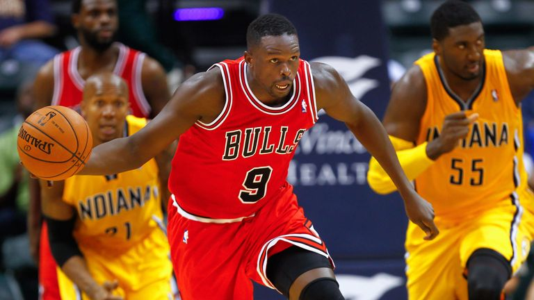Luol Deng in action for the Chicago Bulls against the Indiana Pacers