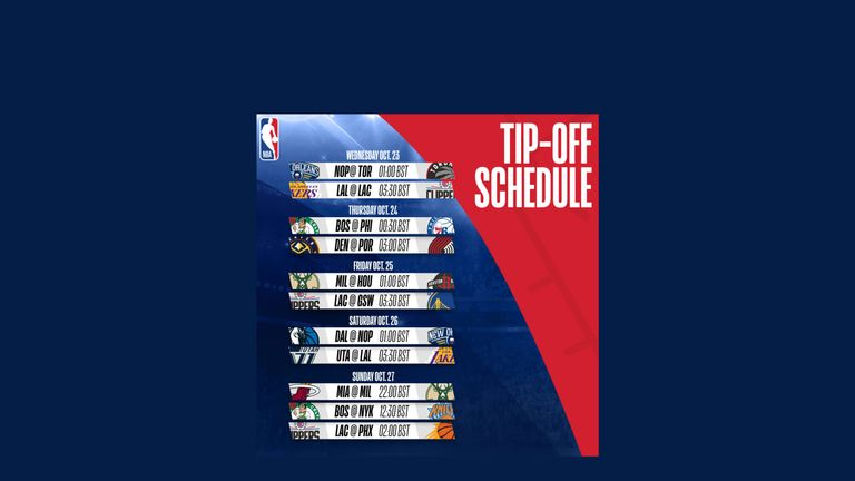 NBA 2019-20 opening week schedule - credit NBA