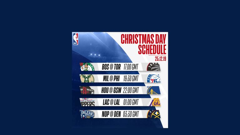 NBA 2019-20 Christmas Day schedule