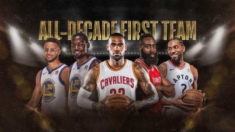 The 2010s NBA All-Decade First Team - credit - NBA.com