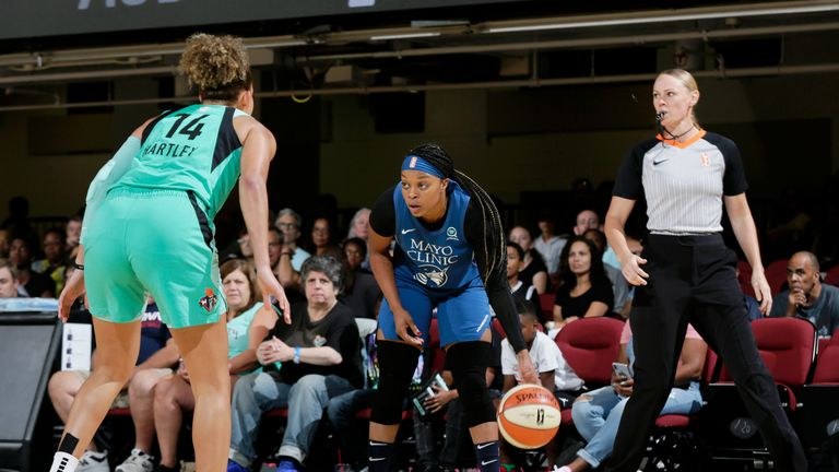 WNBA: Dearica Hamby and Liz Cambage star as Las Vegas Aces hold off Atlanta Dream | NBA News |