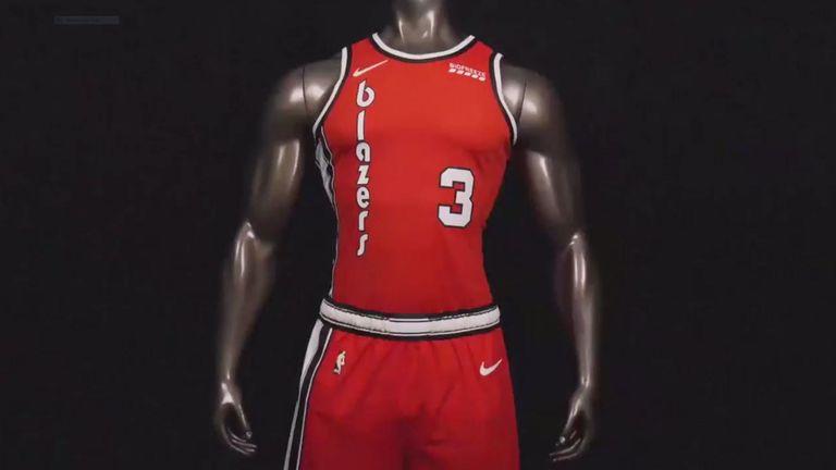 Portland Trail Blazers 1977 throwback uniform - credit Nike