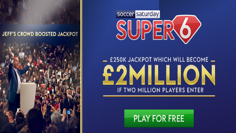 Win up to £2m by playing Super 6!