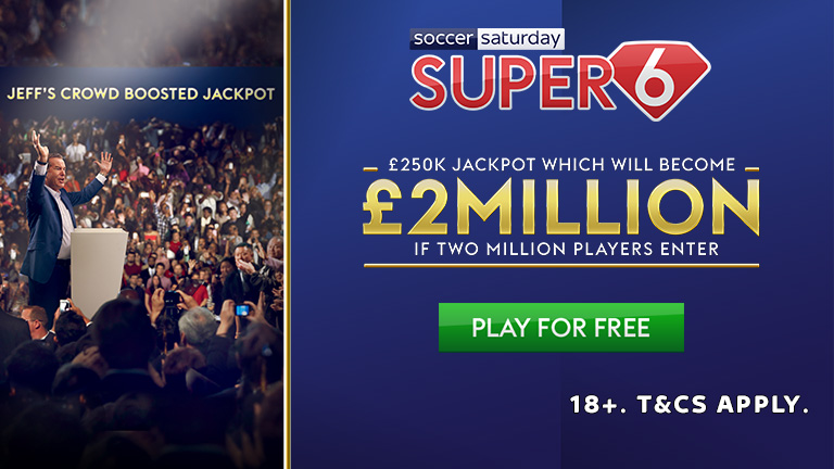 £2M for 2M entries - Super 6