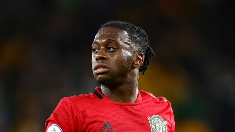 Aaron Wan-Bissaka during the Premier League match between Wolverhampton Wanderers and Manchester United at Molineux
