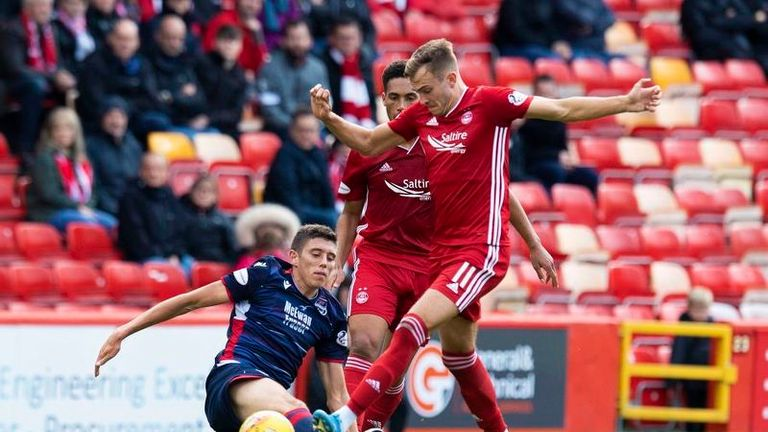 Aberdeen beat Ross County 3-0 to go third