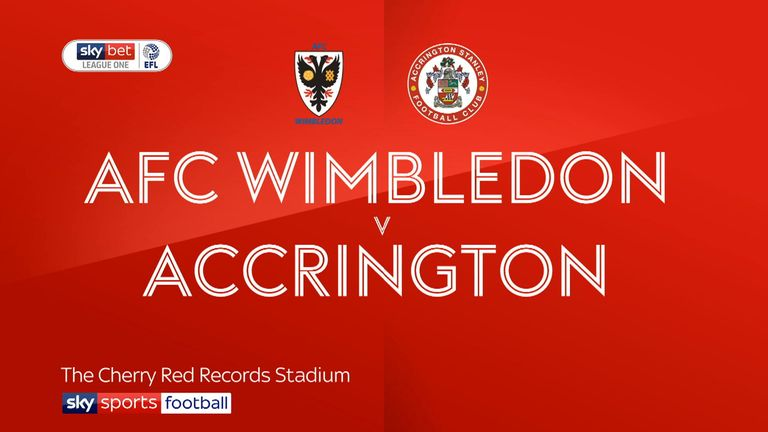 AFC Wimbledon v Accrington