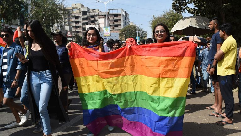 The LGBT community in Gujarat held a 'Queer Pride' parade through the streets of Ahmedabad in February 2018, and again this year