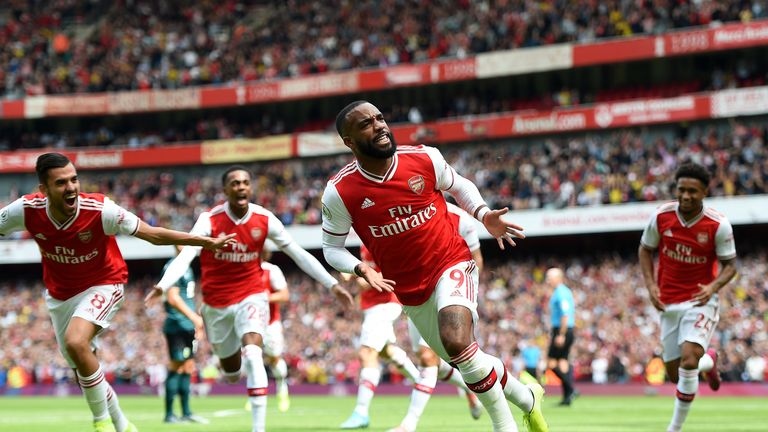 Lacazette has scored on both of his Premier League starts this season