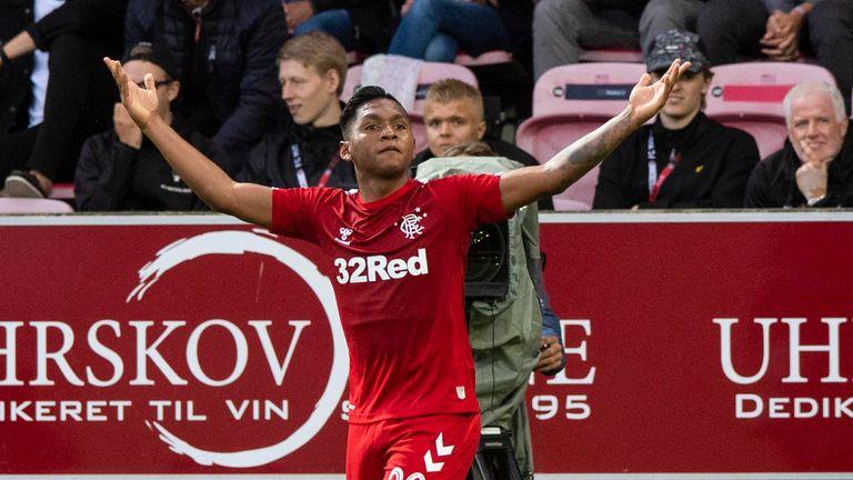 Rangers won the first leg against FC Midtjylland  4-2 in Denmark