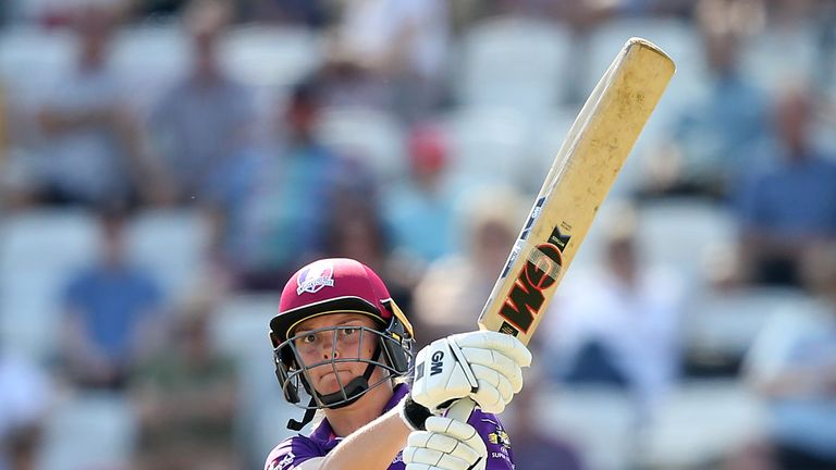 Loughborough's Amy Jones reached her half-century off 44 deliveries
